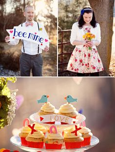 Bee Mine – An Engagement Session with a Valentine's Theme | Green Wedding Shoes Wedding Blog | Wedding Trends for Stylish + Creative Brides