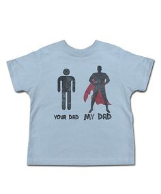 Look at this Light Blue 'My Hero' Tee - Toddler & Boys on #zulily today!