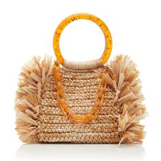 Corallina Raffia Bag by Carolina Santo Domingo - Bags and Purses 👜 Crochet Shoes, Crochet Purses, My Bags, Purses And Bags, Boho Bags, Jute Bags, Design Blog, Printed Bags, Casual Bags