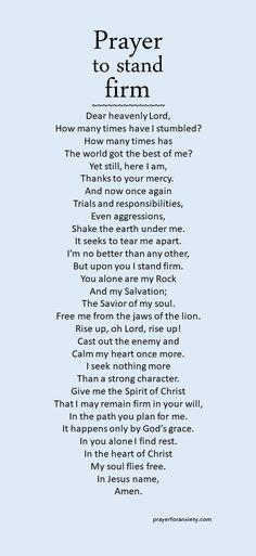 Stand Firm Prayer. Amen...Mildred Williams