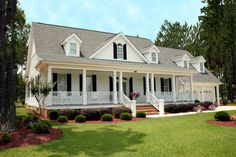 Farmhouse Style House Plan - 3 Beds 3.5 Baths 2568 Sq/Ft Plan #137-138 Front Elevation - Houseplans.com