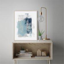 Blue Gray Abstract Art Printable Contemporary Art | Etsy