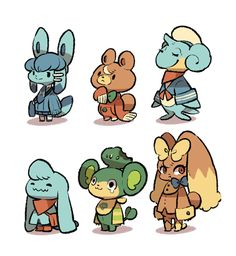 Didn't draw Pokemon Crossing for a while… It's time for me to stop smashing and draw some new Pokemon villagers!