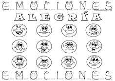 Emociones para colorear para niños - Imagui