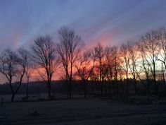 Sun rise Hersey, Michigan at my sisters house. Taken by Peggy Voss