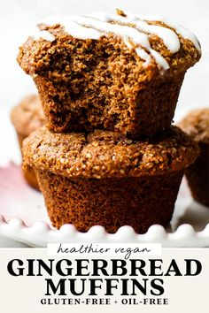 Gluten Free Recipes For Kids, Gluten Free Desserts, Vegan Desserts, Dessert Recipes, Vegan Recipes, Gluten Free Gingerbread, Gingerbread Recipes, Vegan Sweets, Healthy Sweets