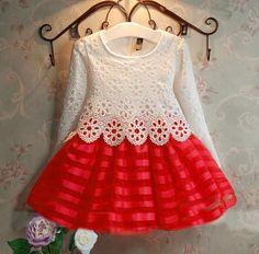 Girls clothes fashion cute girl dress long sleeve lace princess dresses party dress girl elsa vestido christmas kids costume