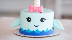 Unicorn of the Sea - Prepare to Be Obsessed With This Narwhal Cake: Unicorn cake? Been there, done that.