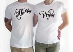 COUPLES T SHIRT. Wifey Hubby shirt. Couple t shirt. Wedding gift. Couple gift, Wedding gift matching gift, just married shirt, wedding day by Crafteri on Etsy