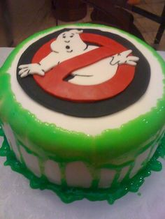 Ghostbusters Cake Made this for a 7 yr old boy. I put the cake in the oven to bake it at am, made the fondant right after, then found. Ghostbusters Cake, Ghostbusters Birthday Party, Cupcakes, Cupcake Cakes, Boy Birthday Parties, 7th Birthday, Birthday Ideas, Novelty Birthday Cakes, Boy Birthday Cakes