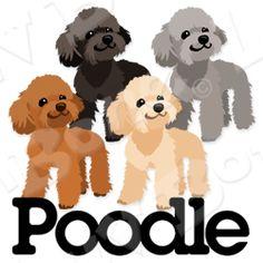 Cute Animal Drawings, Kawaii Drawings, Poodle Drawing, White Toy Poodle, Animals And Pets, Cute Animals, Daisy Dog, Creature Drawings, Dog Illustration