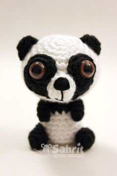 PATTERN Instant O-SO-CUTE Panda Bear Amigurumi Chrochet Doll by Sahrit on Etsy https://www.etsy.com/listing/104295780/pattern-instant-o-so-cute-panda-bear