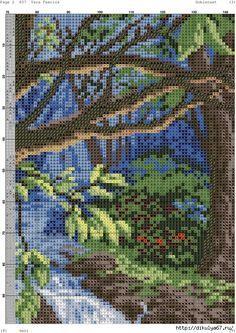 Домик в лесу. гобелен