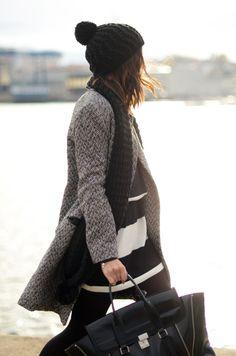 black, tweed, stripes