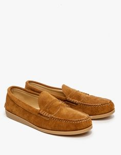 e25dec74d31 Toast Suede Penny Loafer Gum Penny Loafers
