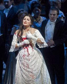 Anna Netrebko in Lucia Di Lammermoor, with the LA Opera.
