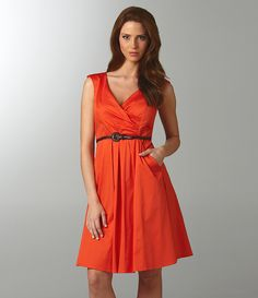 Jessica Simpson Sleeveless Belted Dress