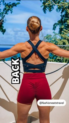 Gym Workout Videos, Gym Workout For Beginners, Fitness Workout For Women, Fun Workouts, Back Fat Workout, Back Exercises, Glute Exercises, Resistance Workout, Shoulder Workout