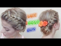 EASY HAIRSTYLE LACE BRAID BUN | Awesome Hairstyles