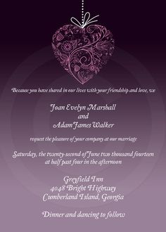 Print at Home - Custom Printable Wedding Invitation  Purple Ombre by digitalMindy, fully customizable, print at home or have them professionally printed.