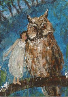 owl card (artist unknown), sent to Ukraine, from Tweeling17