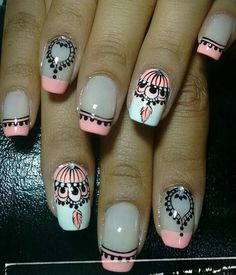 Pedicure Designs, Cute Nail Designs, Cute Nails, Pretty Nails, French Tip Nails, Pastel Nails, Gorgeous Nails, Black Nails, Manicure And Pedicure