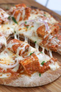 Chicken Tikka Pizzas #pizza #chicken #spicy