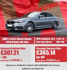 BMW 5 Series Diesel Saloon 520d M Sport 4dr Auto Bmw 5 Series, Diesel, September, Car, Sports, Diesel Fuel, Hs Sports, Automobile, Vehicles