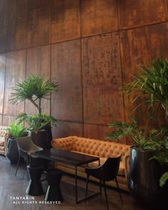 """TANYARIN created """"RUSteel"""" effect on wall by using Armourcoat for Loft Asoke Project. #armourcoat #rusteel #rust #surface #finishing #loft #asoke #industrial #design #art #interior #architecture #tanyarin #tanyarindecor #tanyarindecoration #oxidized #homedecor #hotel #residence #resort"""