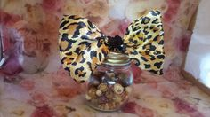 Reclaimed Satin leopard print sequin accented hair by LouLeeAndMe