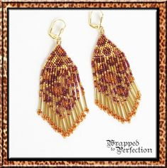 Leopard Earrings / Instant Download PDF by WrappedToPerfection