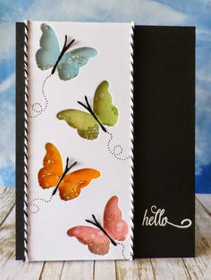 stamping and stitching: Butterfly Hello PRETTY!