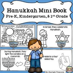 Hanukkah Mini Book for Early Readers - Christmas Activities Your students will love completing this Hanukkah mini book. This mini book is for early readers: Pr