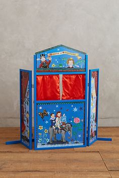 wooden puppet theater - so fun for creative kiddos! #giftsforkids #anthrofave