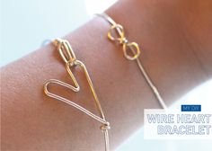 "Wire Heart Bracelet...Matches ""Wire Heart Ring""...Click On Picture For Tutorial..."
