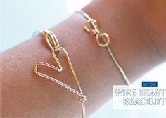 Heart Bracelet  I Spy DIY: [My DIY] wire jewelry, craft, diybracelet, heart bracelet, diy jewelry, diy bracelet, xmas gifts, wire bracelets, the wire