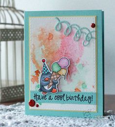 YNS Supplies: Waddles – Happy Brrr-thday stamp set and matching dies | Stitched Loop Border | Stitched Rectangle Dies | Holly Berry red gumdrops #yournextstamp