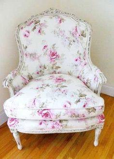 Pretty chintz upholstery...