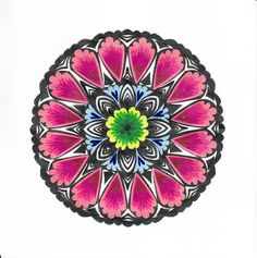 Polish traditional paper cut-out made by hands in Łowicz Paper Cutting, Folk Art, Polish, Traditional, Handmade, Hands, Places, Mandalas, Poland