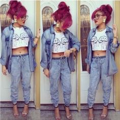 high waist acid wash jeans outfit - Google Search