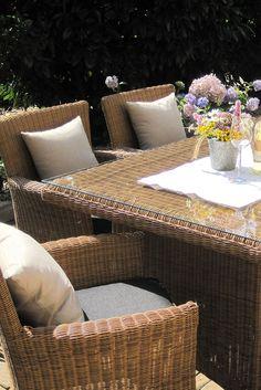 gartenmöbel set tisch, bank und 4 sessel rattan polyrattan, Garten und bauen