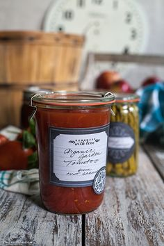 "Share your handmade canning products with friends and family using this free printable ""homemade with love"" contents label."