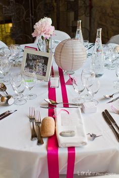 decoration mariage table