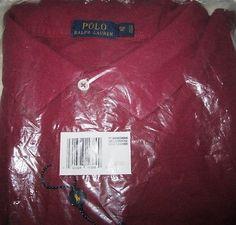Polo Ralph Lauren SS Polo Shirt 2 Button 5XB Big NIP $98.00 RET New Cranberry