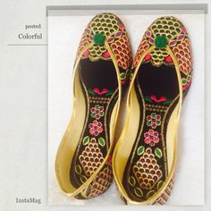 Final Price 🔴 Bright and beautiful shoes Life is full of colors.Let's bring some to our closet with these beautiful shoes from India.    👍 They tend to stretch after 4-5 uses.                    👍Very comfortable and classy . Shoes Flats & Loafers