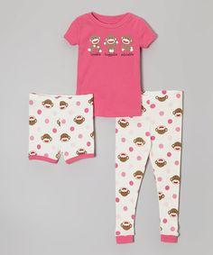 64d8723bbc AnnLoren Gray Geometric Heart Tunic   Leggings - Infant. Candlesticks Pink    White Sock Monkey Pajama Set ...