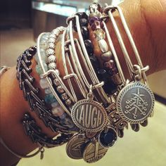 LOVE Alex and Ani Bangles! My favorite accessory for everyday! Alex And Ani Bangles, Love Bracelets, Bangle Bracelets, Jewelry Art, Jewelry Accessories, Fashion Jewelry, Arm Candies, Jewels, Fashion Ideas