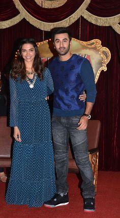 Ranbir Kapoor and Deepika Padukone at the trailer launch of #Tamasha. #Bollywood #Fashion #Style #Beauty #Handsome