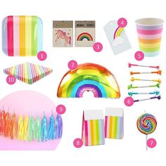 """Ruby Rabbit Partyware on Instagram: """"Oooh we love a rainbow theme ❤️ Check out the @hooraymagau blog today for some fun partyware picks including from us YAY! Search 'rainbow' under kids party themes at rubyrabbit.com.au #rainbow #party #kidsparty #partyware #partysupplies #partydecorations #rubyrabbit #rubyrabbitparty"""""""