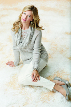 Holiday Textured Shimmer Sweater